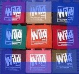 Wild about gift bags in assorted colours with blue border image