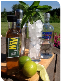 Wild about Nettle Syrup Mojitos image