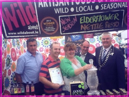 Malcolm & Fiona of WILD about accepting the Good Food Ireland Food Producer of the Year Award image