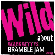 Wild about Black Betty's Bramble Jam label image