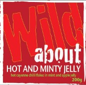 Wild about Hot and Minty Jelly label image