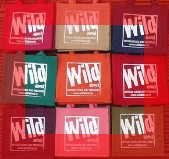 Wild about gift bags in assorted colours with orange border image