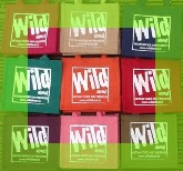 Wild about gift bags in assorted colours with green border image