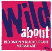 Wild about Red Onion & Blackcurrant Marmalade label image