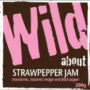 Wild about Strawpepper Jam label image